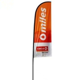custom beach flag banner polyester UV waterproof beach feather flag