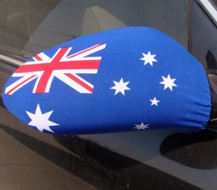 Custom car rear view mirror cover flag for advertising