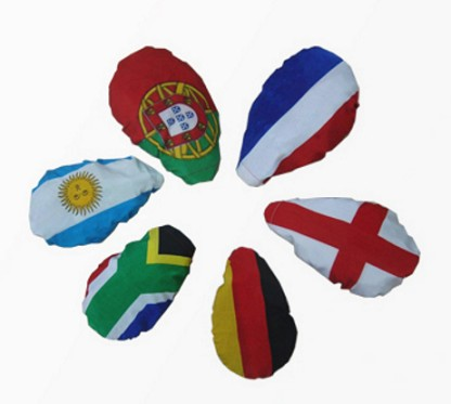 Polyester car rearview country flag car mirror cover custom