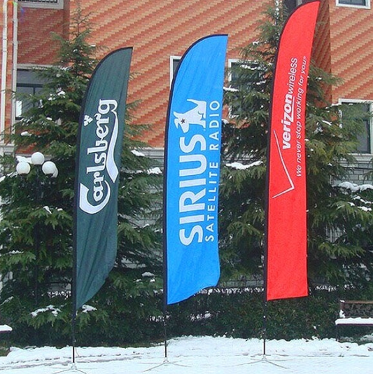 Custom Printing Polyester Advertising Feather Flag Sign