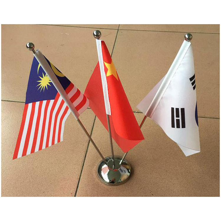 Office Desk Flag Custom Print Polyester Desk Table Natio<em></em>nal Flag